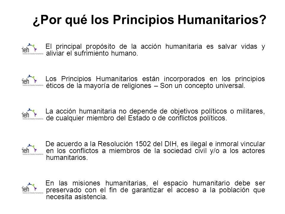 ¿Por qué los Principios Humanitarios.