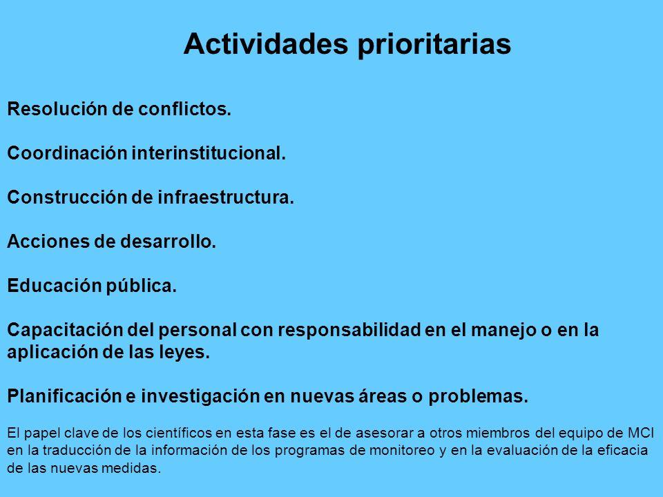 Resolución de conflictos. Coordinación interinstitucional. Construcción de infraestructura. Acciones de desarrollo. Educación pública. Capacitación de