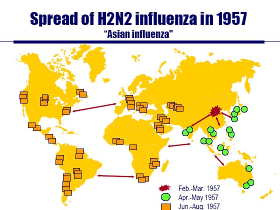 Gripe de Hong Kong A(H3N2) 1968-69 Miembros de la Guardia Roja en China, cubren sus bocas contra el virus de la gripe en 1968 por orden de Mao.