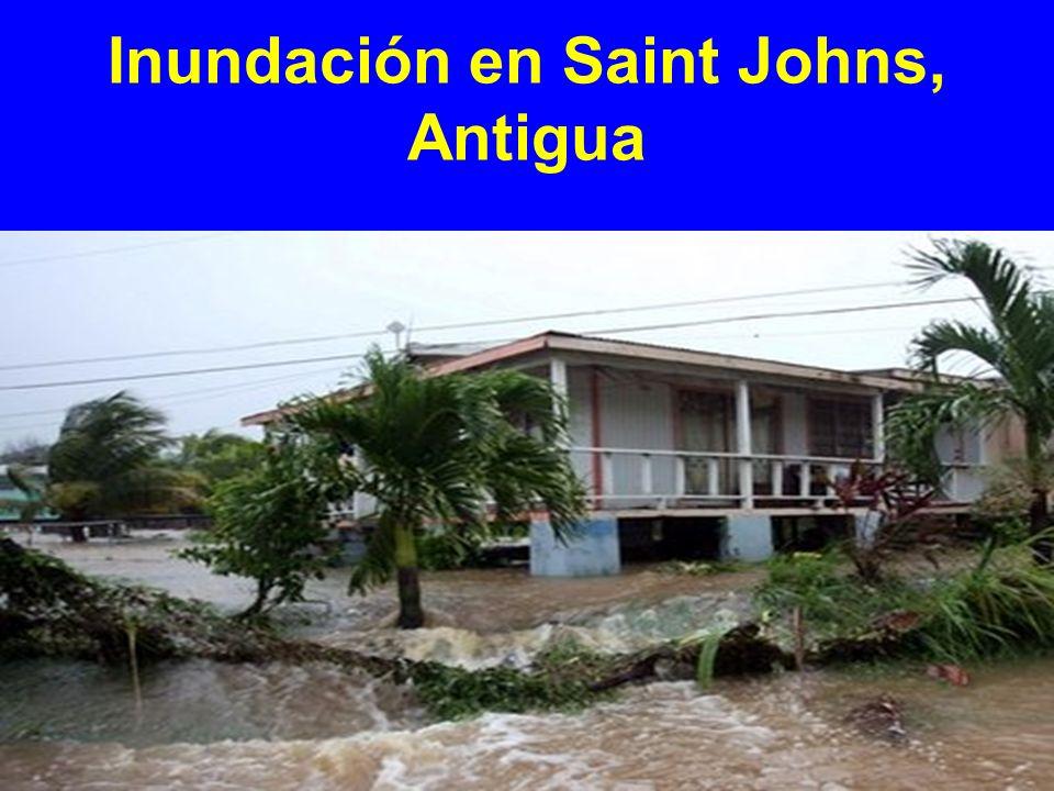 Inundación en Saint Johns, Antigua