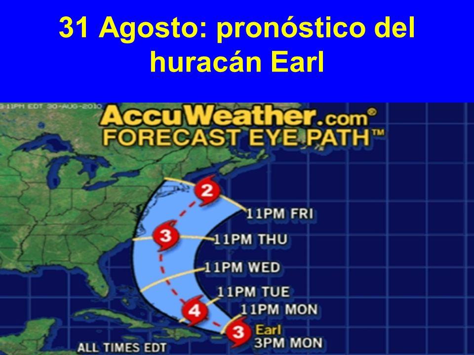 31 Agosto: pronóstico del huracán Earl