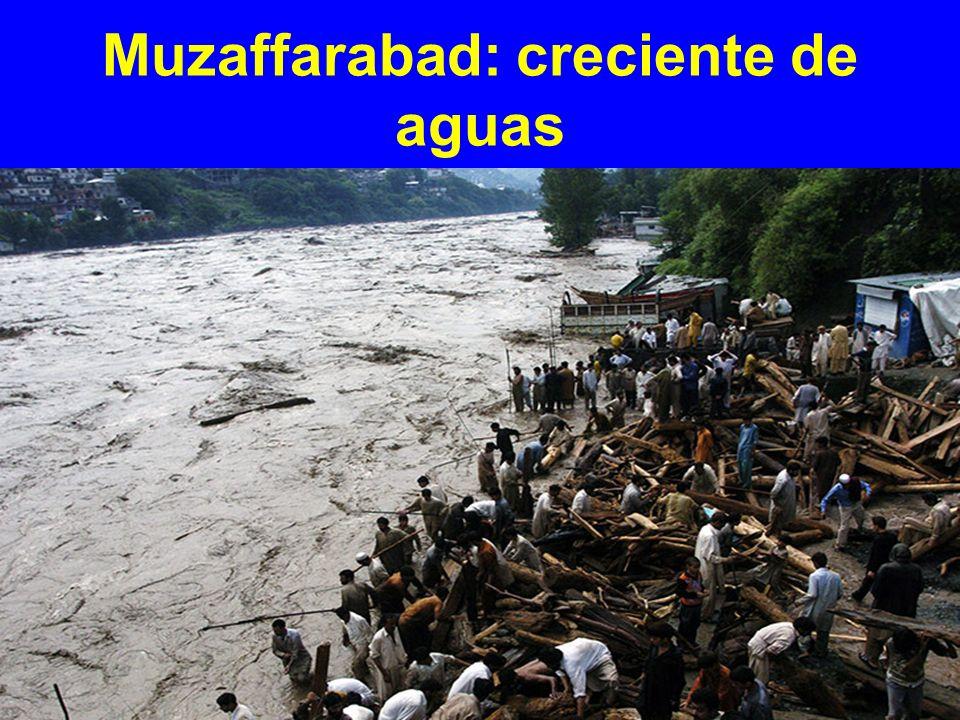 Muzaffarabad: creciente de aguas