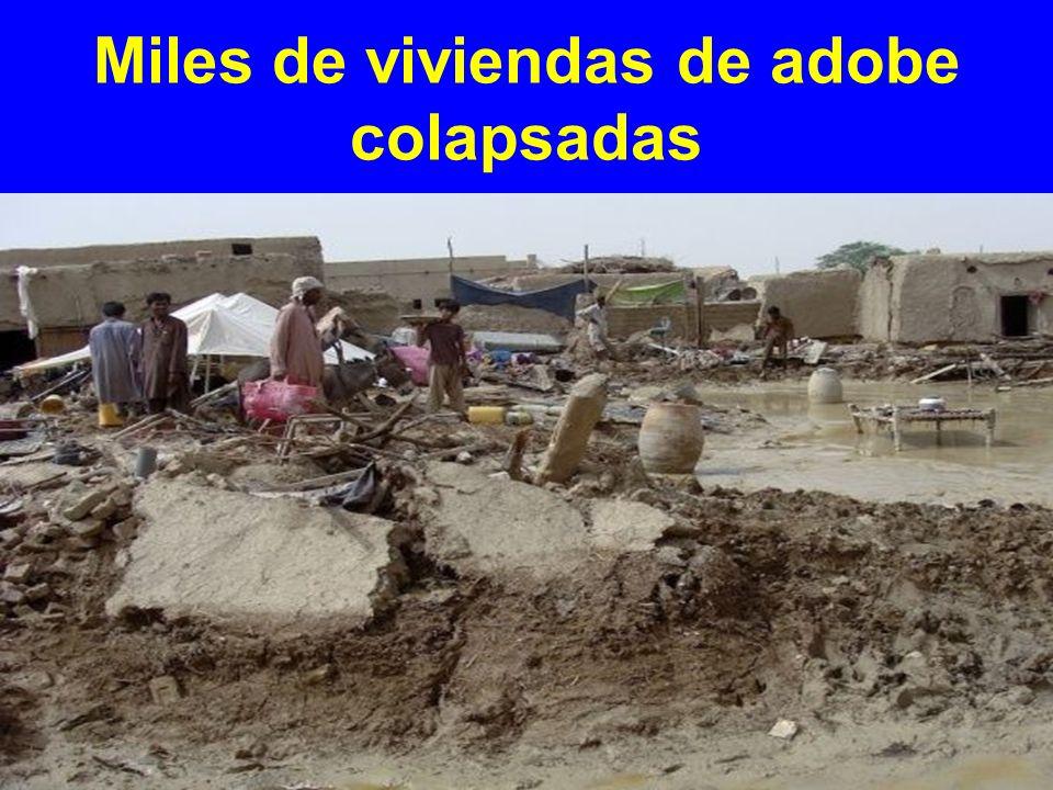 Miles de viviendas de adobe colapsadas