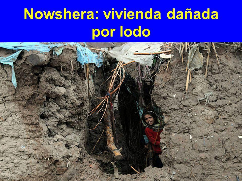 Nowshera: vivienda dañada por lodo