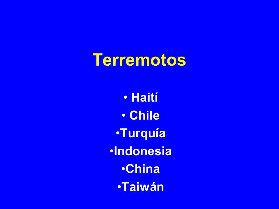 Terremotos Haití Chile Turquía Indonesia China Taiwán
