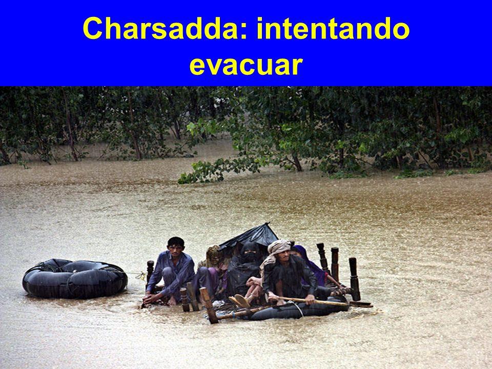Charsadda: intentando evacuar