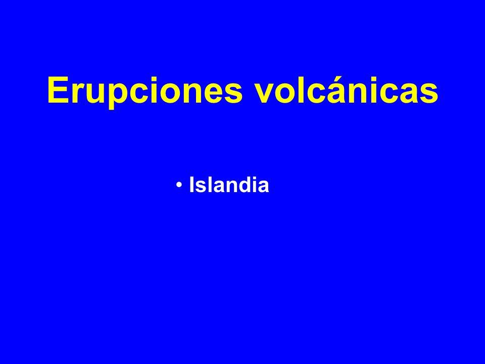 Erupciones volcánicas Islandia