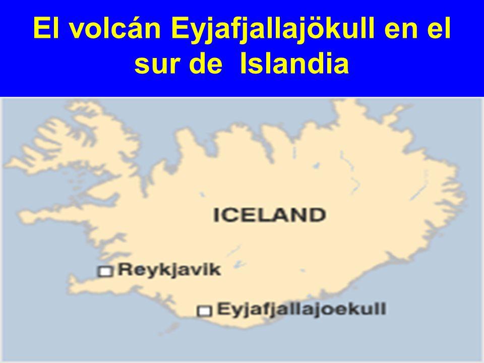 El volcán Eyjafjallajökull en el sur de Islandia