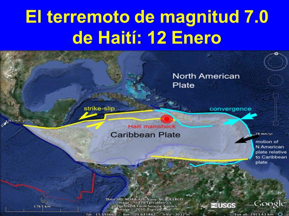 El terremoto de magnitud 7.0 de Haití: 12 Enero