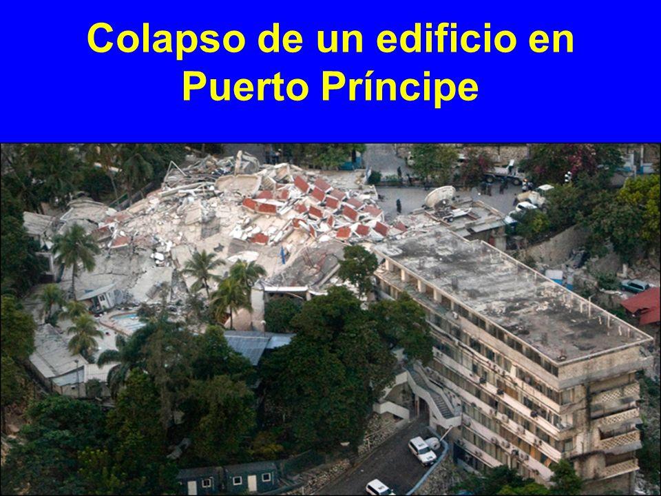 Colapso de un edificio en Puerto Príncipe