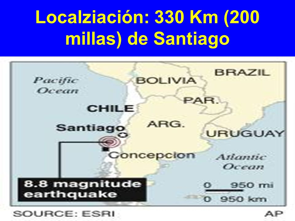 Localziación: 330 Km (200 millas) de Santiago