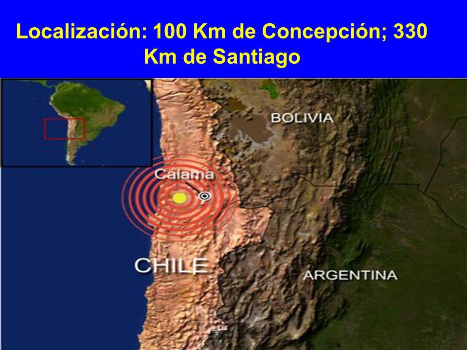 Localización: 100 Km de Concepción; 330 Km de Santiago