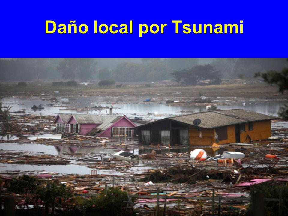 Daño local por Tsunami