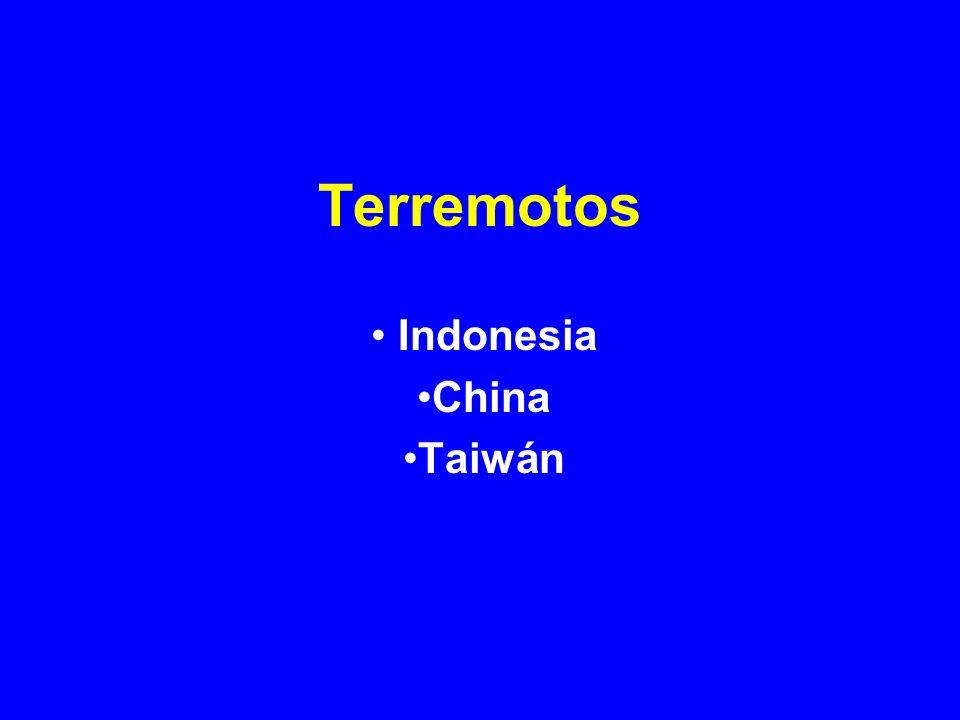 Terremotos Indonesia China Taiwán