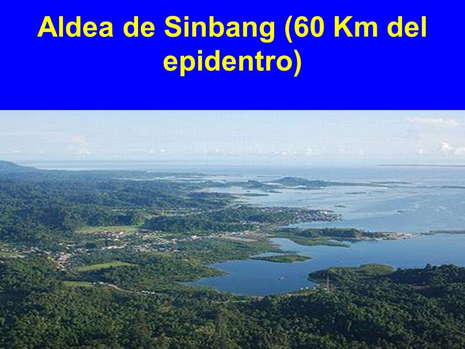 Aldea de Sinbang (60 Km del epidentro)