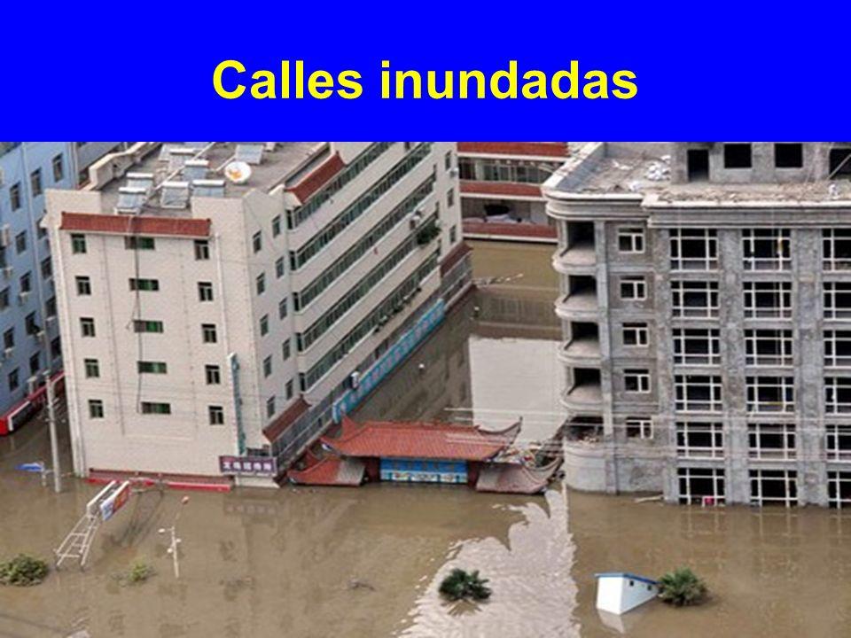 Calles inundadas