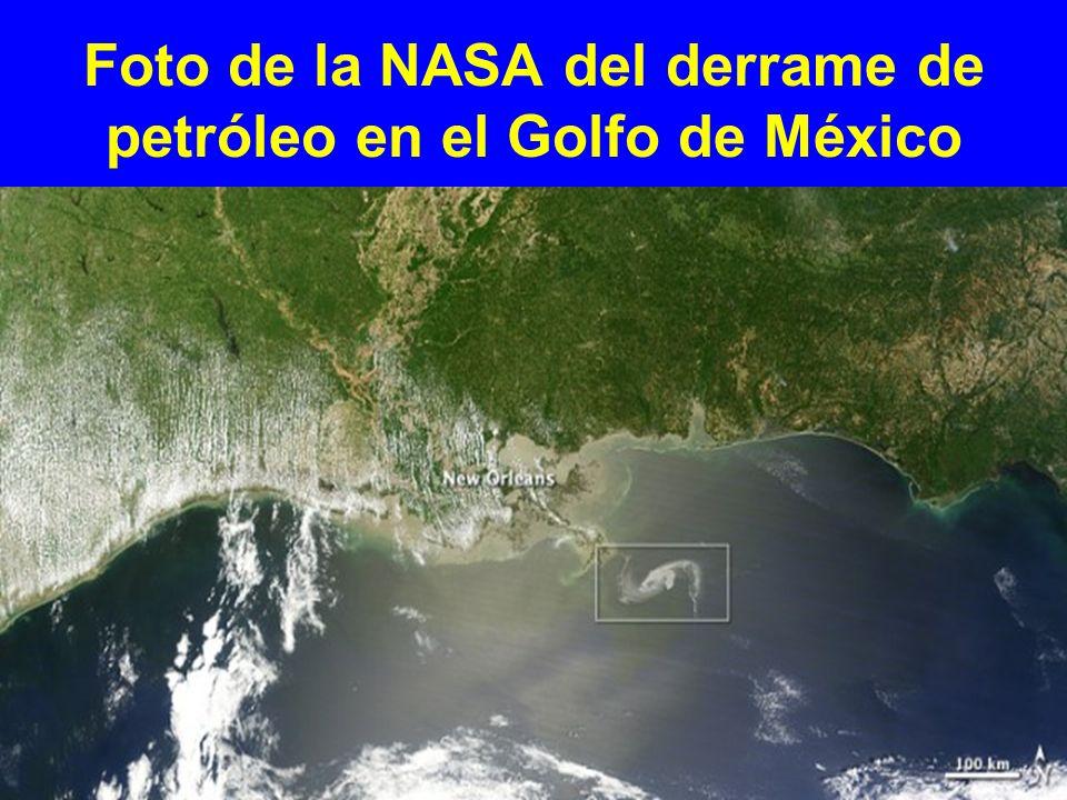 Foto de la NASA del derrame de petróleo en el Golfo de México