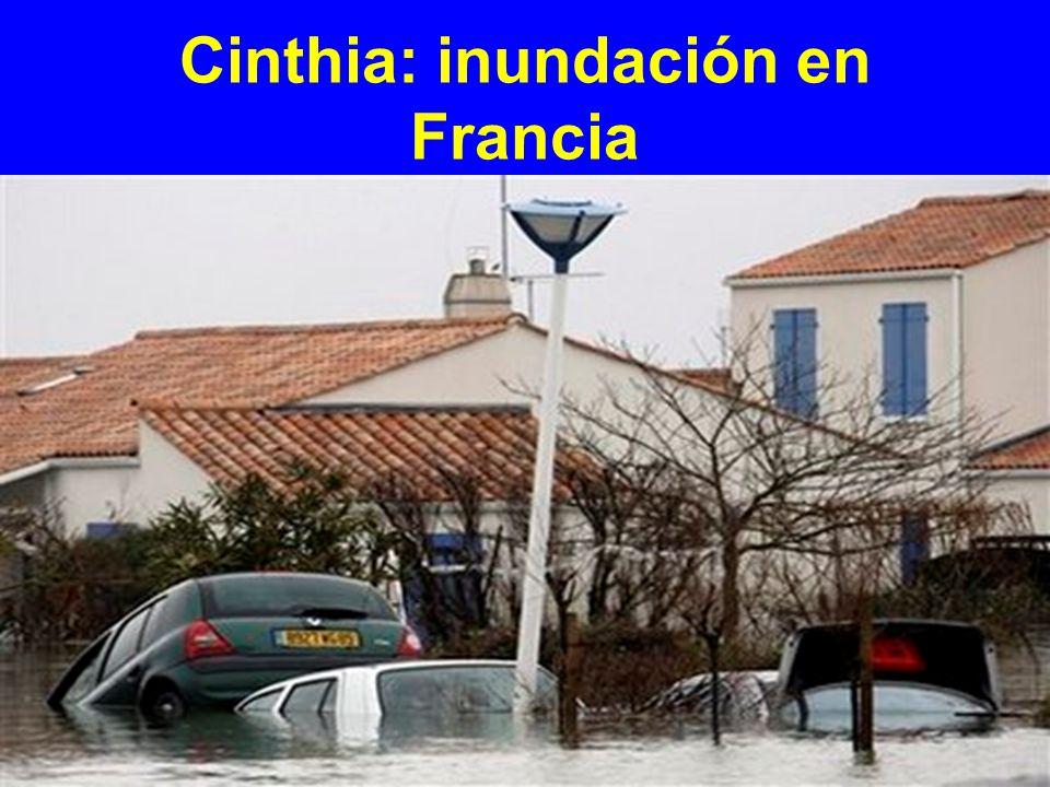 Cinthia: inundación en Francia