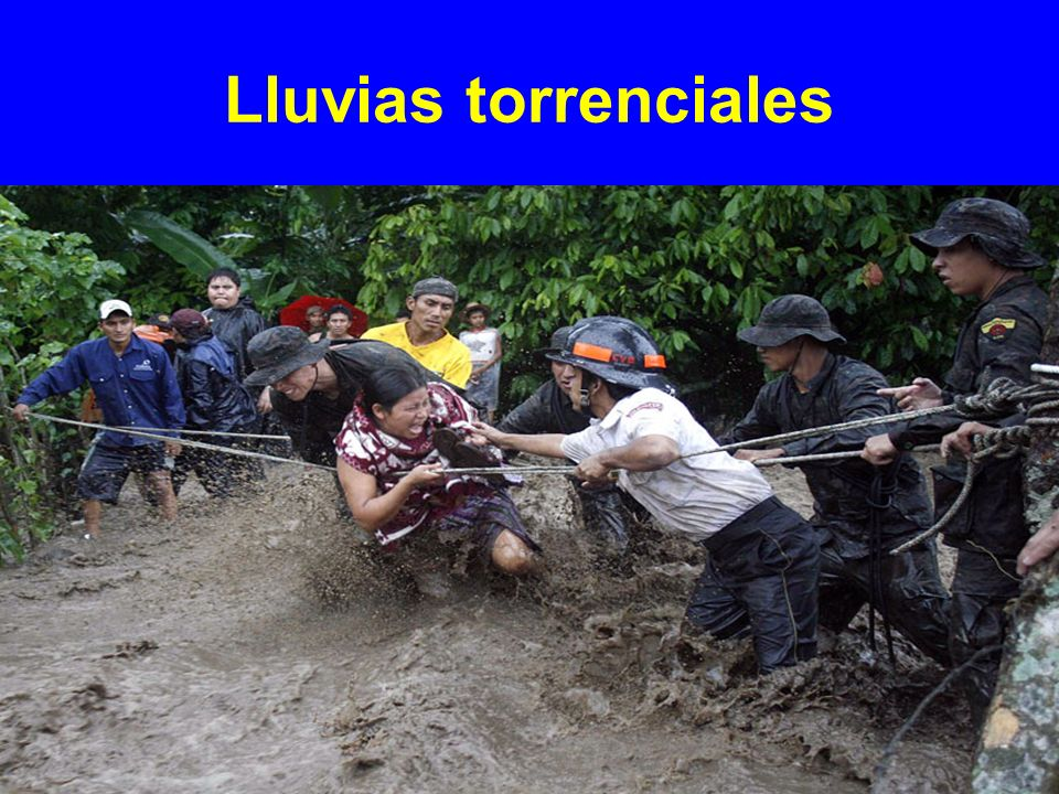 Lluvias torrenciales