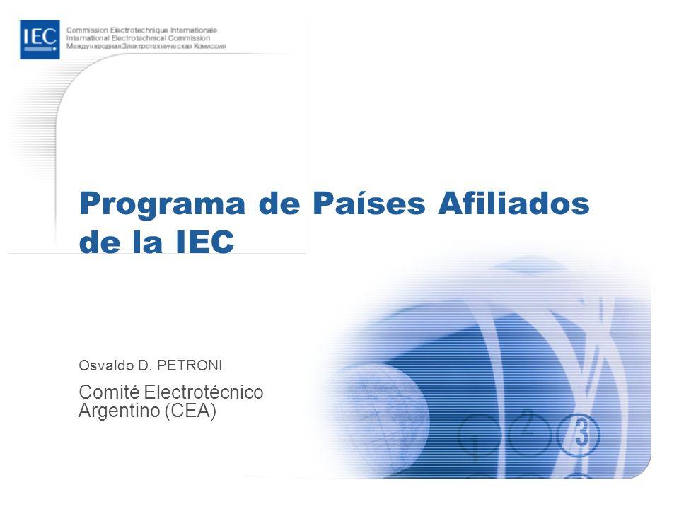 2005-10-20 / ACP Update for ITC workshop 13 Normas más populares Pilas eléctricas (IEC 60086) Cables (IEC 60227 e IEC 60287) Aparatos domésticos (IEC 60335) Enchufes y tomacorrientes (IEC 60884 e IEC 60083) Instalaciones eléctricas en edificios (IEC 60364) Baterías de plomo-ácido (IEC 60095) Lámparas de filamento de tungsteno (IEC 60064) Conductos de cables eléctricos para instalaciones eléctricas (IEC 60614)