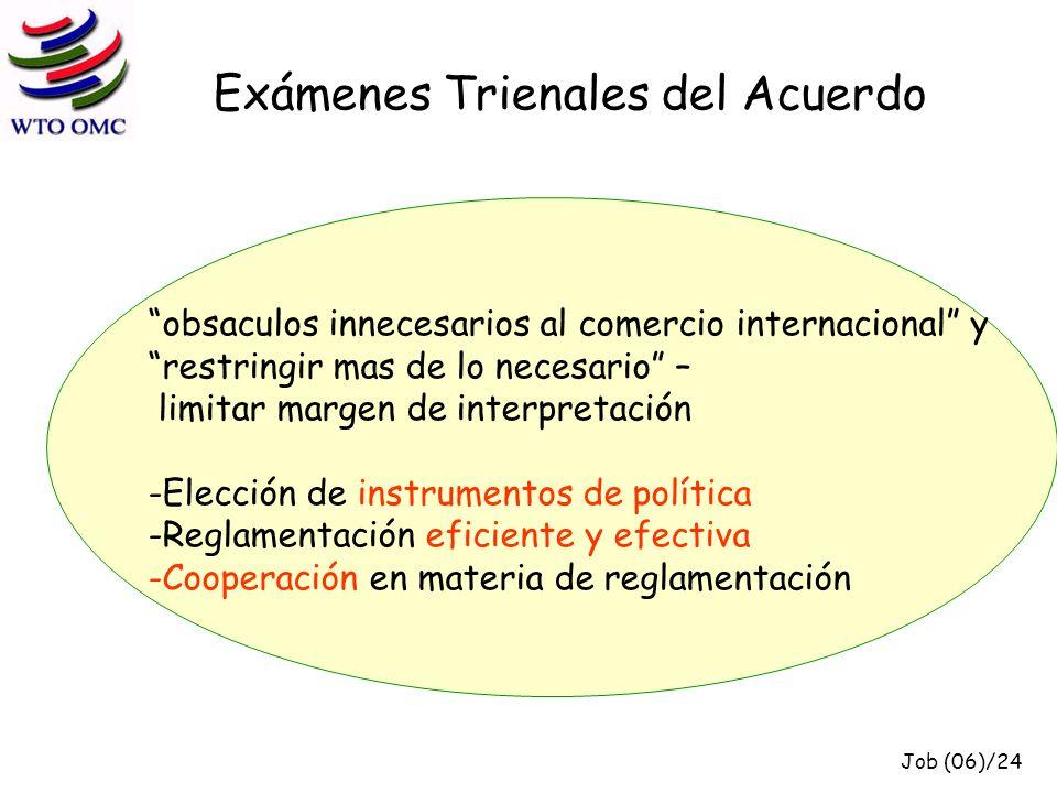 Elección de instrumentos de política (algunos puntos de debate en el Comité OTC) Determinar, caso por caso, si existe la necesitad de reglamentar (mandatory vs.