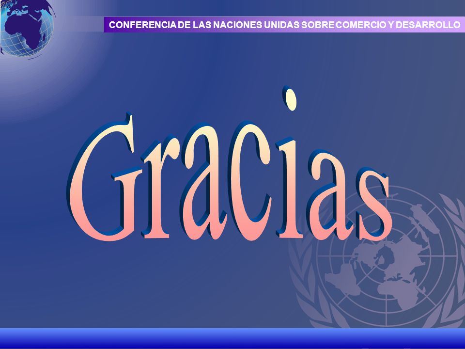 UNCTAD/CD-TFT 22 CONFERENCIA DE LAS NACIONES UNIDAS SOBRE COMERCIO Y DESARROLLO