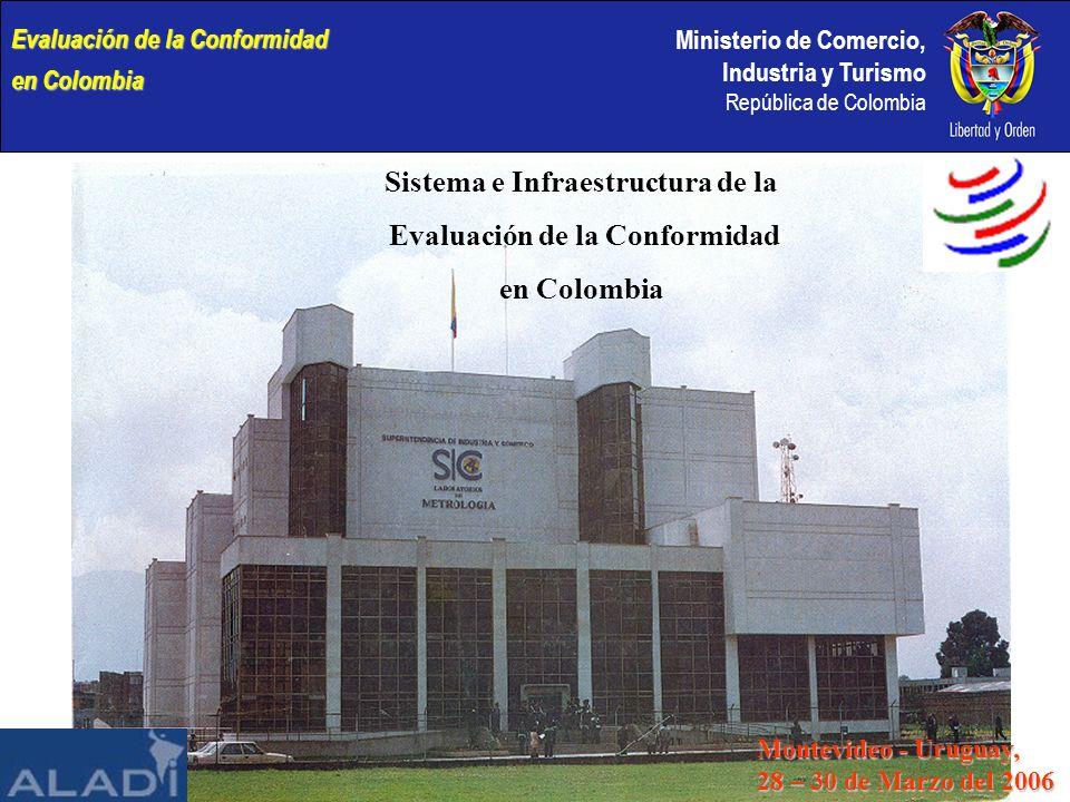 Ministerio de Comercio, Industria y Turismo República de Colombia Evaluación de la Conformidad en Colombia Sistema e Infraestructura de la Evaluación de la Conformidad en Colombia Montevideo - Uruguay, 28 – 30 de Marzo del 2006