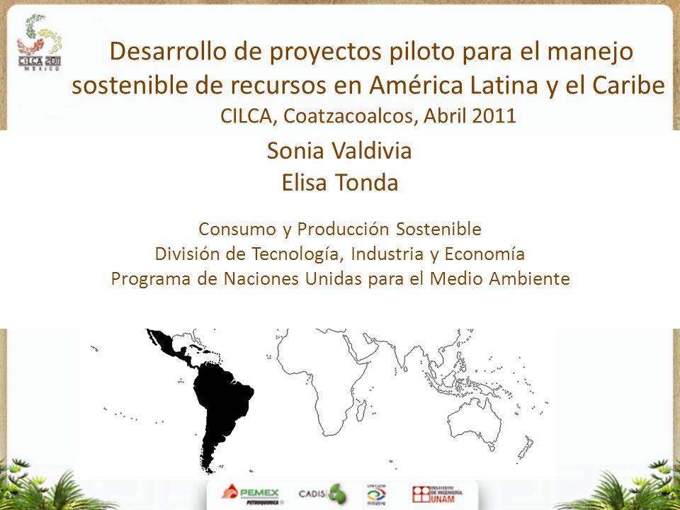 Desarrollo de proyectos piloto para el manejo sostenible de recursos en América Latina y el Caribe CILCA, Coatzacoalcos, Abril 2011 Sonia Valdivia Eli