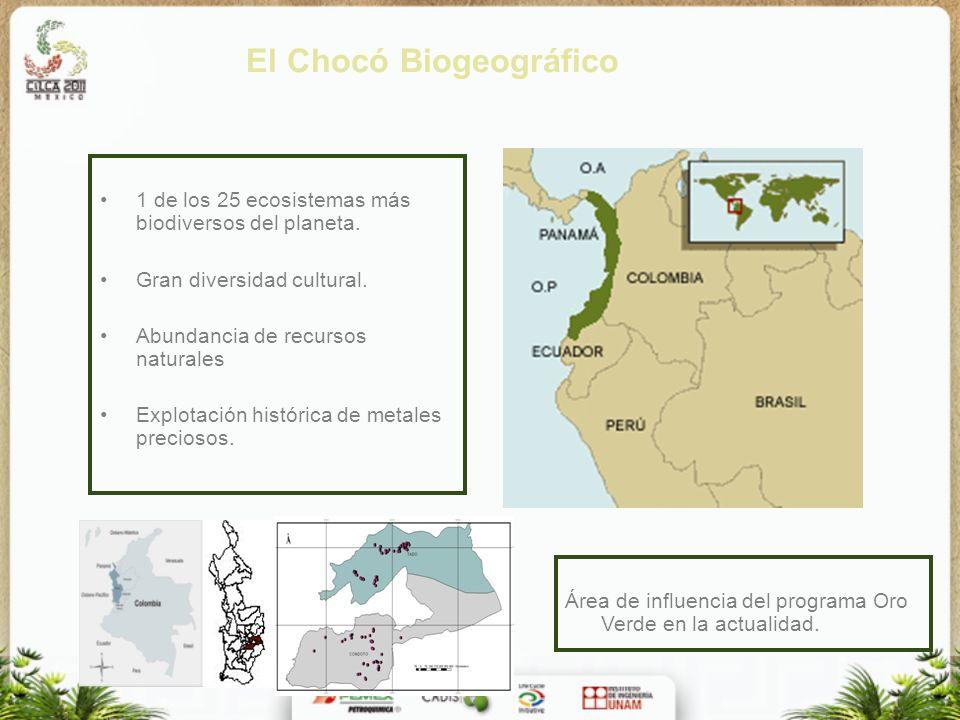 El Chocó Biogeográfico 1 de los 25 ecosistemas más biodiversos del planeta. Gran diversidad cultural. Abundancia de recursos naturales Explotación his