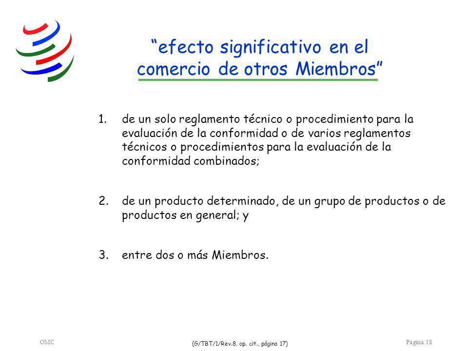 OMCPágina 18 efecto significativo en el comercio de otros Miembros 3.entre dos o más Miembros.