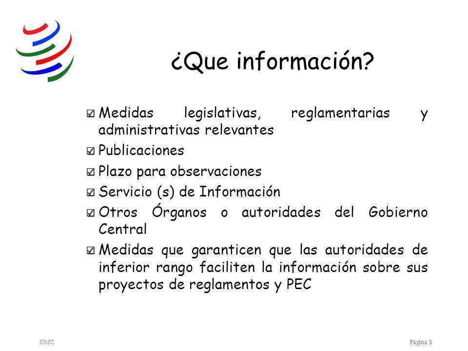 OMCPágina 8 ¿Que información.