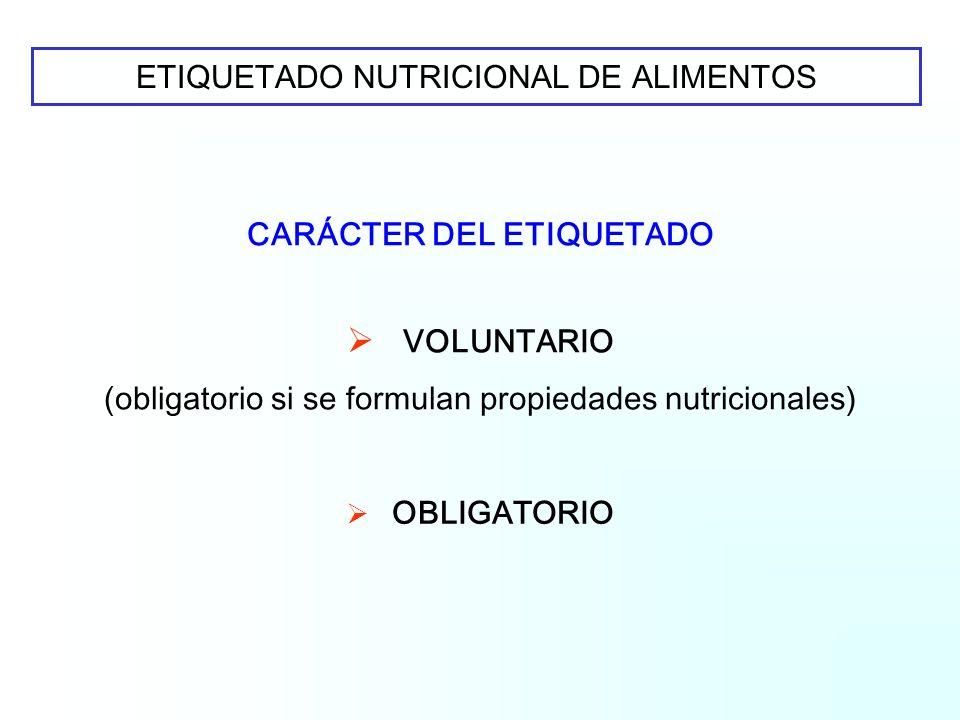 Nos preocupa: La disparidad de criterios reglamentarios para el etiquetado nutricional respecto al: Carácter del etiquetado Forma de expresión Tipo de