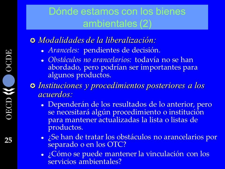 25 µ Modalidades de la liberalización: l Aranceles: pendientes de decisión. l Obstáculos no arancelarios: todavía no se han abordado, pero podrían ser