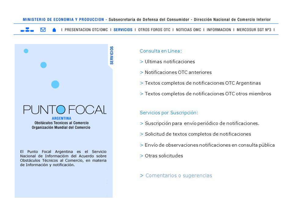 Consulta en Línea: > Ultimas notificaciones > Notificaciones OTC anteriores > Textos completos de notificaciones OTC Argentinas > Textos completos de