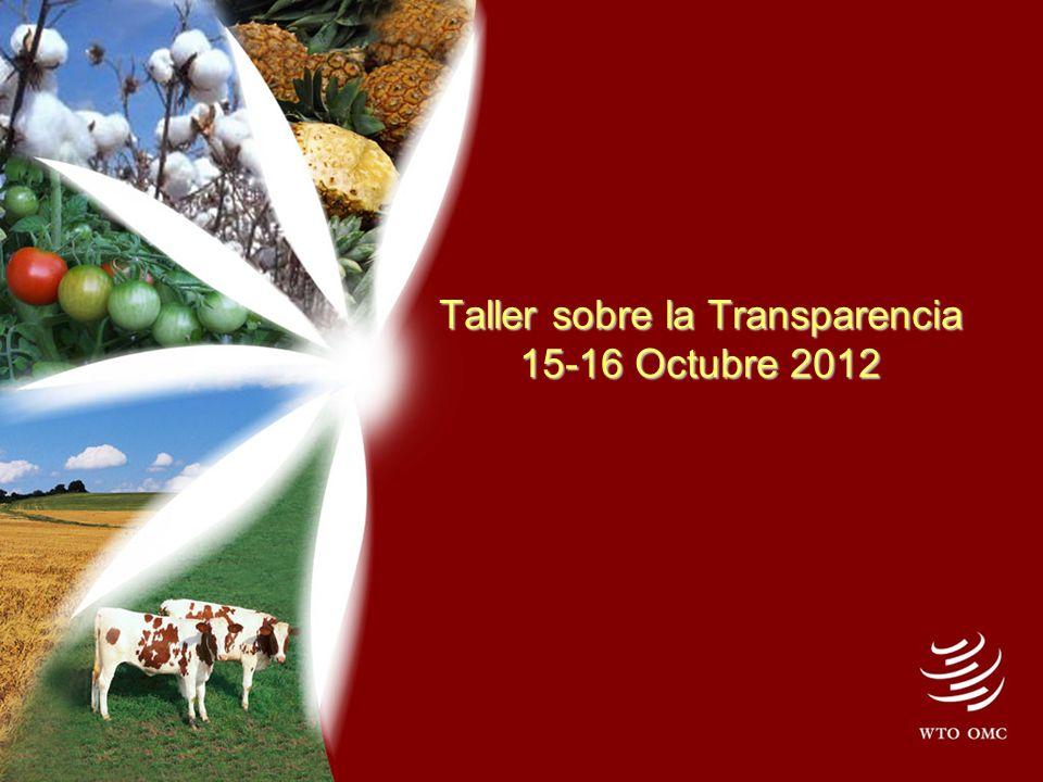 Taller sobre la Transparencia 15-16 Octubre 2012