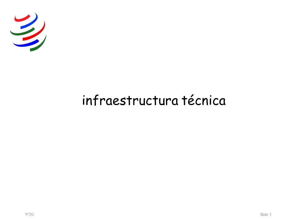 WTOSlide 5 infraestructura técnica