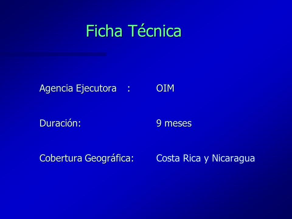 Antecedentes El establecimiento de un Control Integrado Modelo en el puesto fronterizo terrestre de Peñas Blancas, es un emprendimiento conjunto entre Costa Rica y Nicaragua enmarcado en los Acuerdos Presidenciales sobre Integración, en las acciones previstas para la Unión Aduanera y como producto de Reuniones Binacionales de los Directores Generales de Migración y Extranjería que se refleja en el Acta de Acuerdos suscrita el 8 de noviembre de 2002, en Peñas Blancas, Nicaragua.