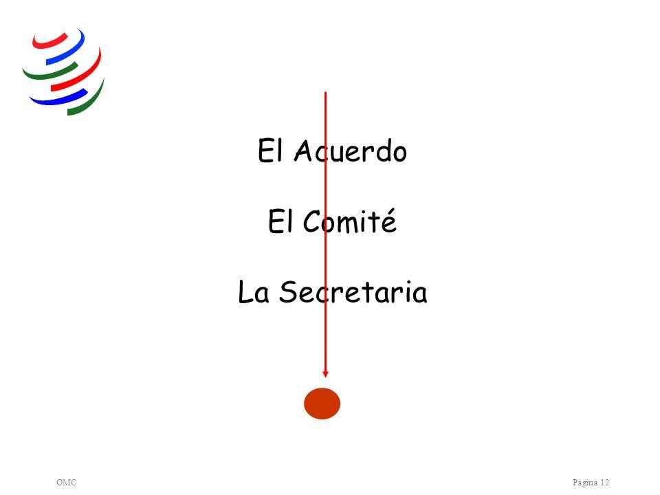 OMCPagina 12 El Acuerdo El Comité La Secretaria