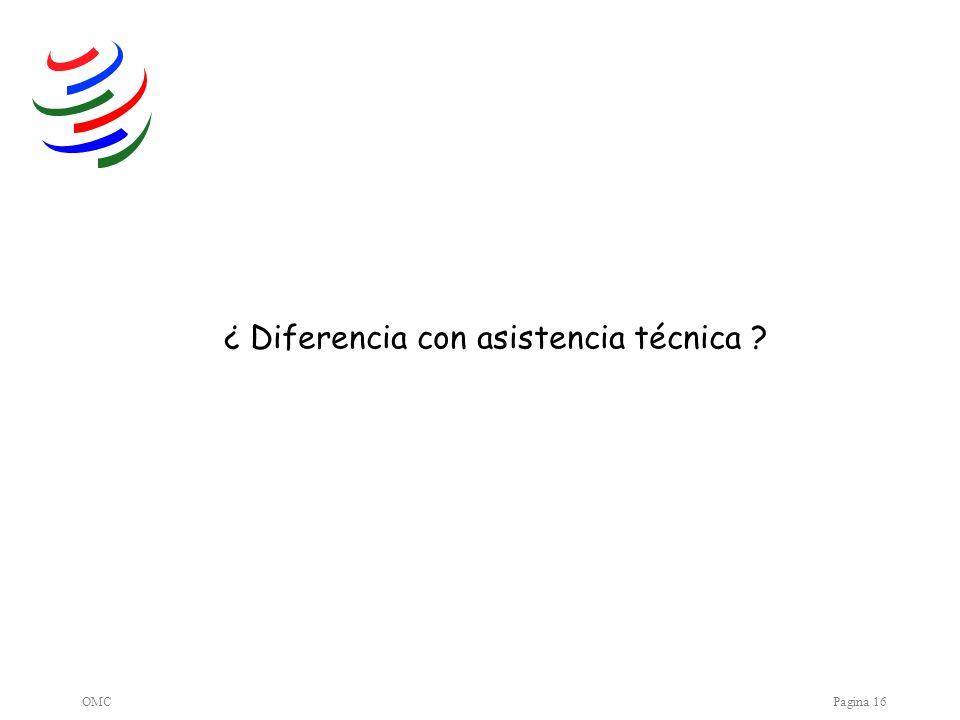 OMCPagina 16 ¿ Diferencia con asistencia técnica