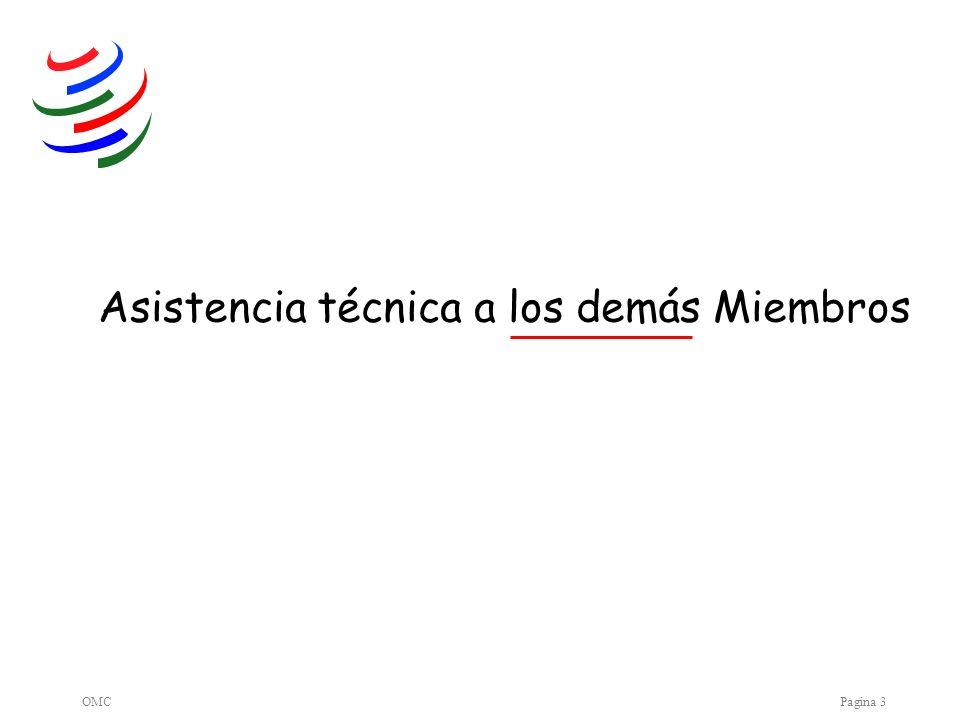 OMCPagina 3 Asistencia técnica a los demás Miembros
