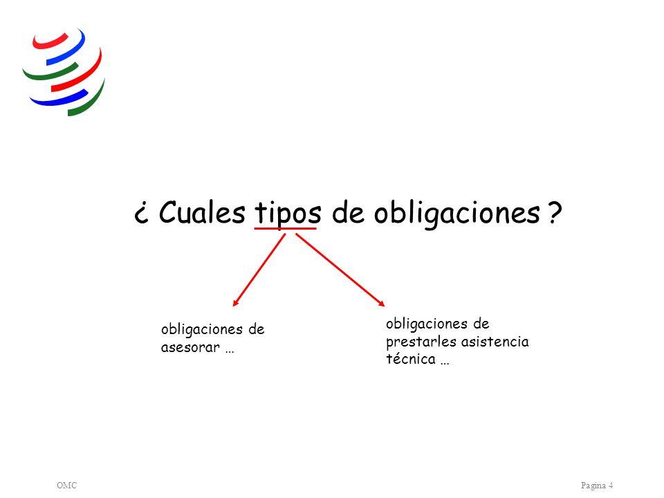 OMCPagina 4 ¿ Cuales tipos de obligaciones .