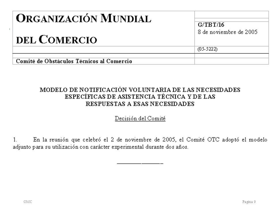 OMCPagina 10 Papel del Comité.a)Implementación (Articulo 11) b)Como.