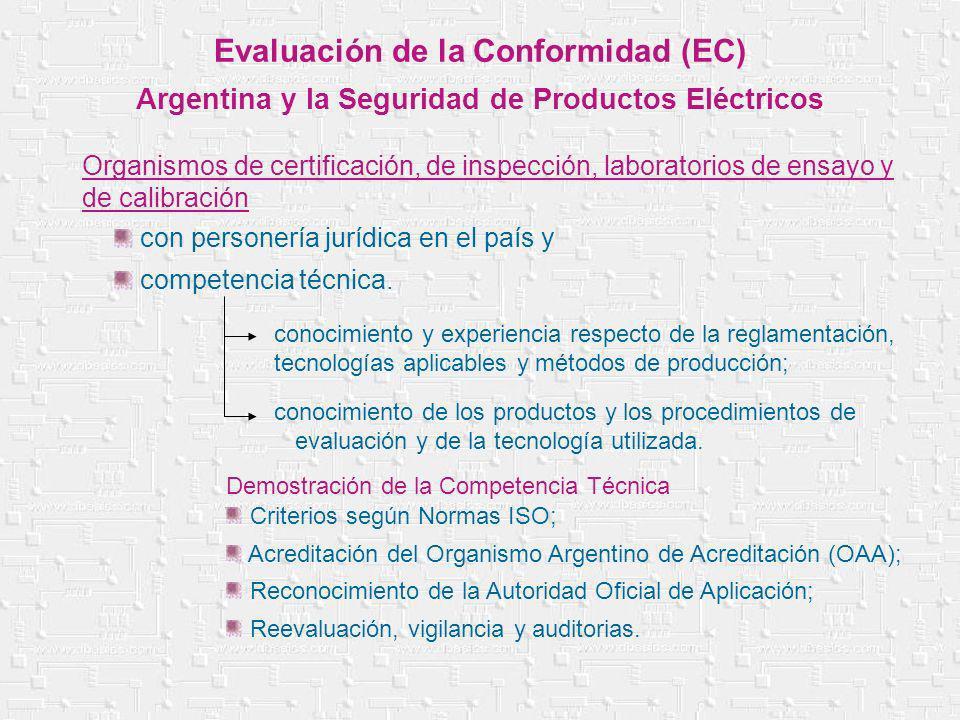 Criterios según Normas ISO; Acreditación del Organismo Argentino de Acreditación (OAA); Reconocimiento de la Autoridad Oficial de Aplicación; Reevalua