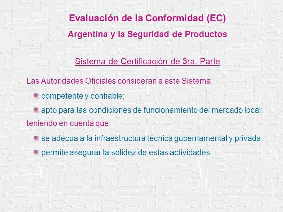 Las Autoridades Oficiales consideran a este Sistema: teniendo en cuenta que: competente y confiable; apto para las condiciones de funcionamiento del m