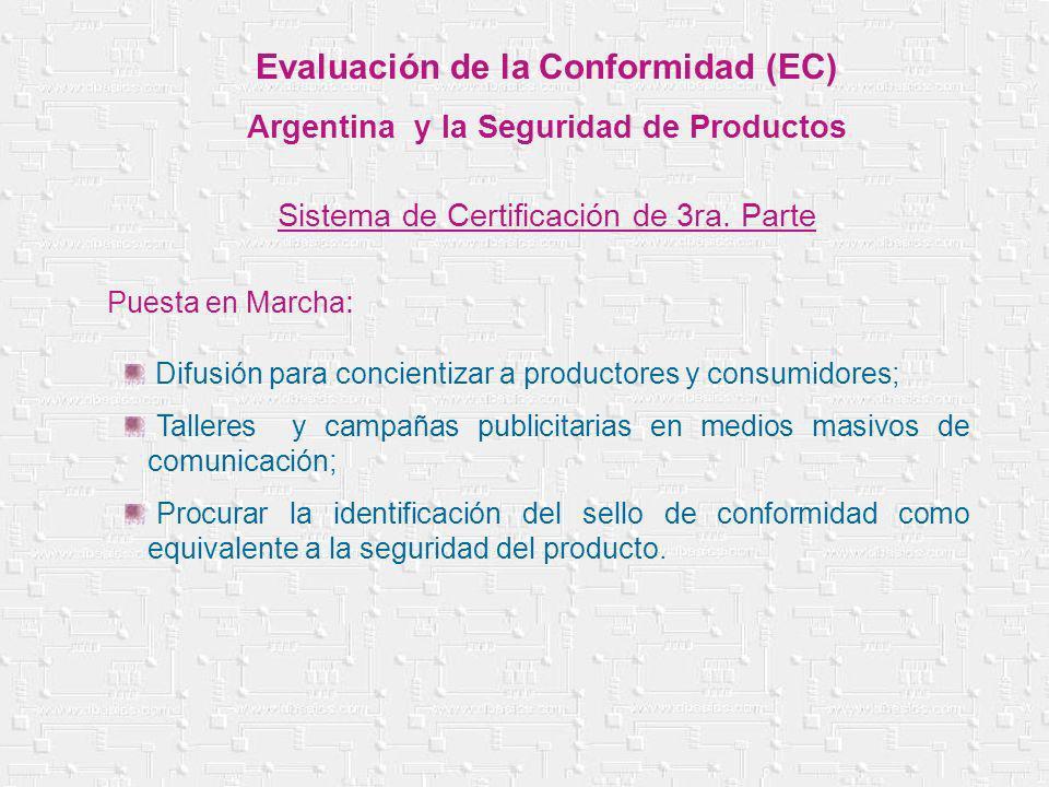 Difusión para concientizar a productores y consumidores; Talleres y campañas publicitarias en medios masivos de comunicación; Procurar la identificaci