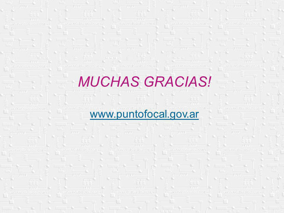 MUCHAS GRACIAS! www.puntofocal.gov.ar