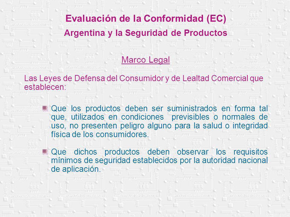 Evaluación de la Conformidad (EC) Argentina y la Seguridad de Productos Marco Legal Las Leyes de Defensa del Consumidor y de Lealtad Comercial que est