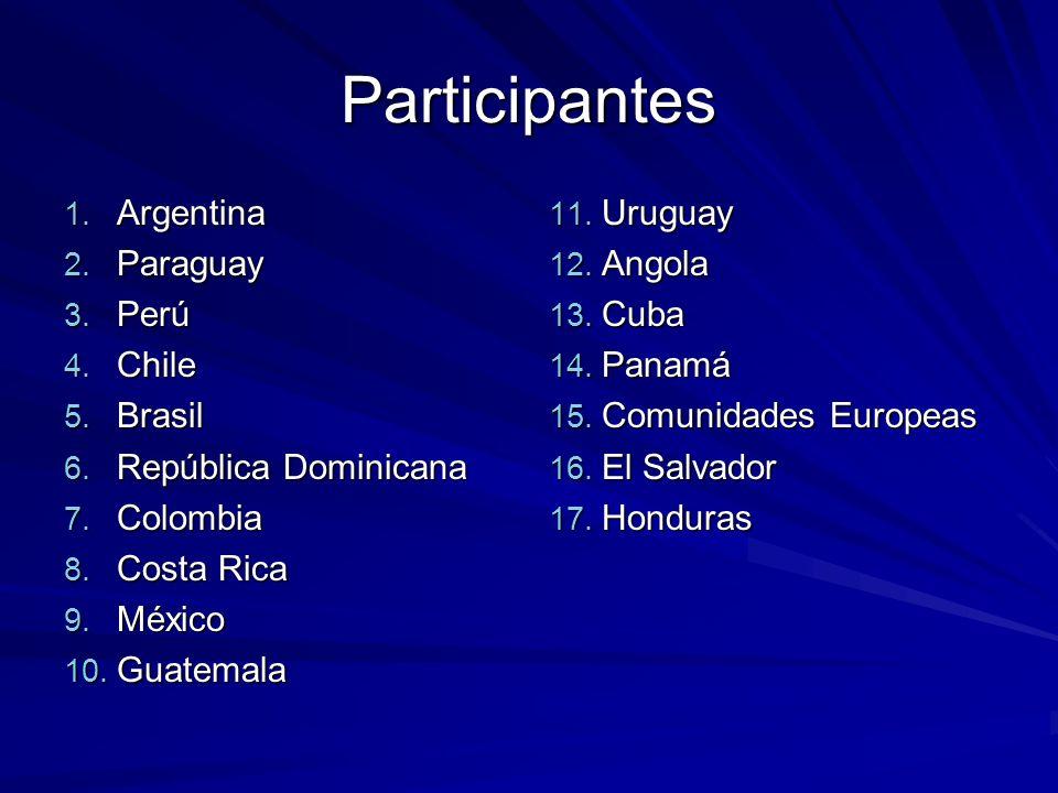 Participantes 1. Argentina 2. Paraguay 3. Perú 4.