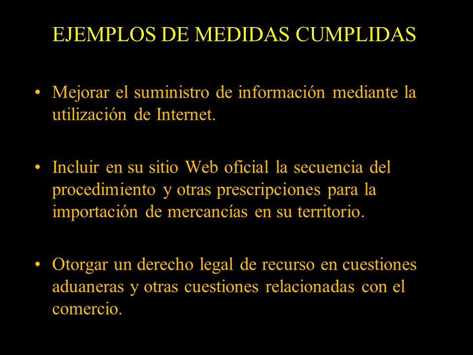 Mejorar el suministro de información mediante la utilización de Internet. Incluir en su sitio Web oficial la secuencia del procedimiento y otras presc