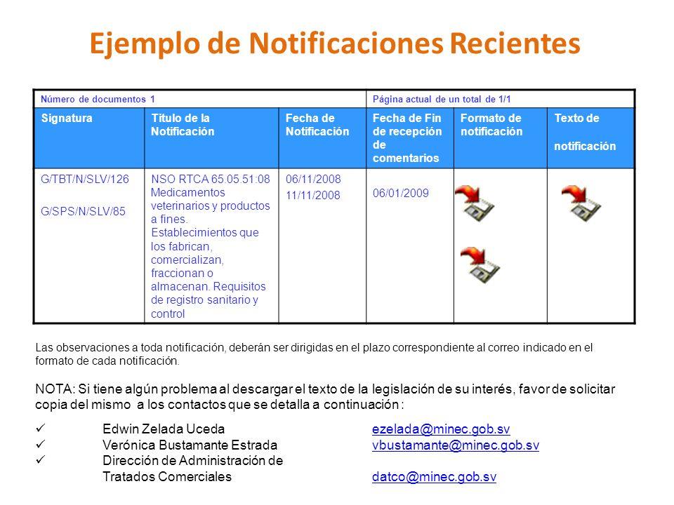 Ejemplo de Notificaciones Recientes Las observaciones a toda notificación, deberán ser dirigidas en el plazo correspondiente al correo indicado en el